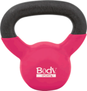 Body Sport 10 lb Cast Iron Kettlebell with Colored Vinyl Coating P/N BDSKB10