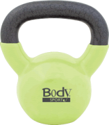 Body Sport 15 lb Cast Iron Kettlebell with Colored Vinyl Coating P/N BDSKB15