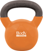 Body Sport 35 lb Cast Iron Kettlebell with Colored Vinyl Coating P/N BDSKB35